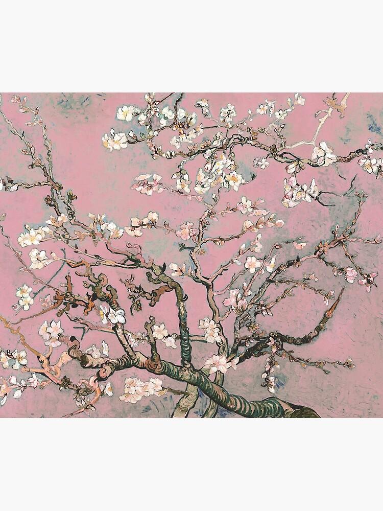 Almond Blossom - Vincent Van Gogh (pink pastel) by DejaVuStudio