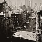 Urban Fragments - Overlooking Two Bridges - New York City by Vivienne Gucwa