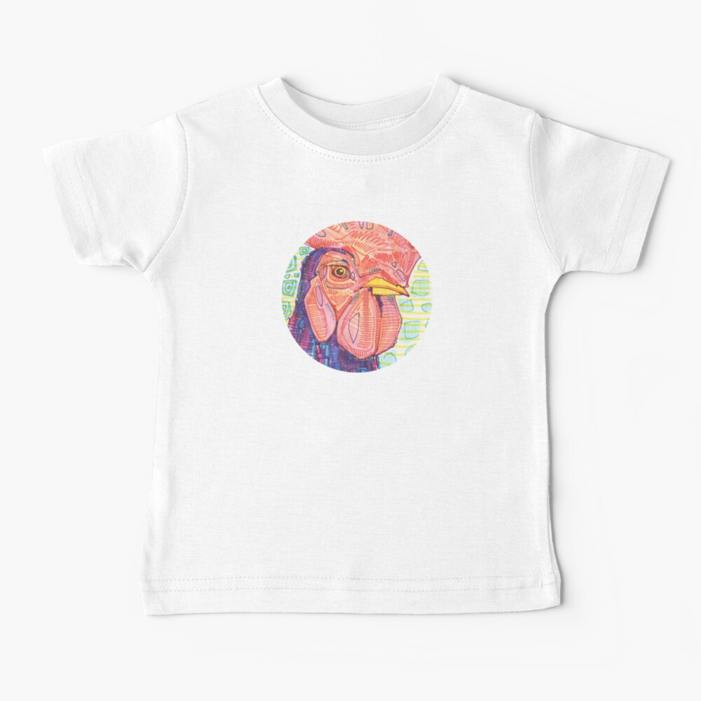 Rooster Drawing - 2015 Baby T-Shirt