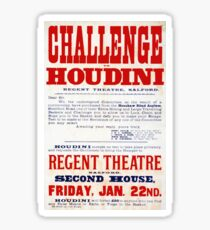 Challenge Houdini Magician Vintage Advertisement Sticker
