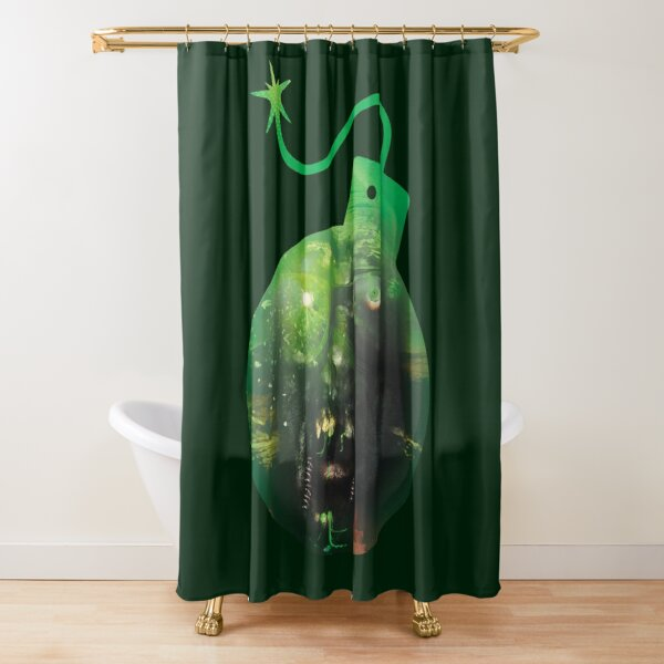 Monster bomb, surreal design Shower Curtain