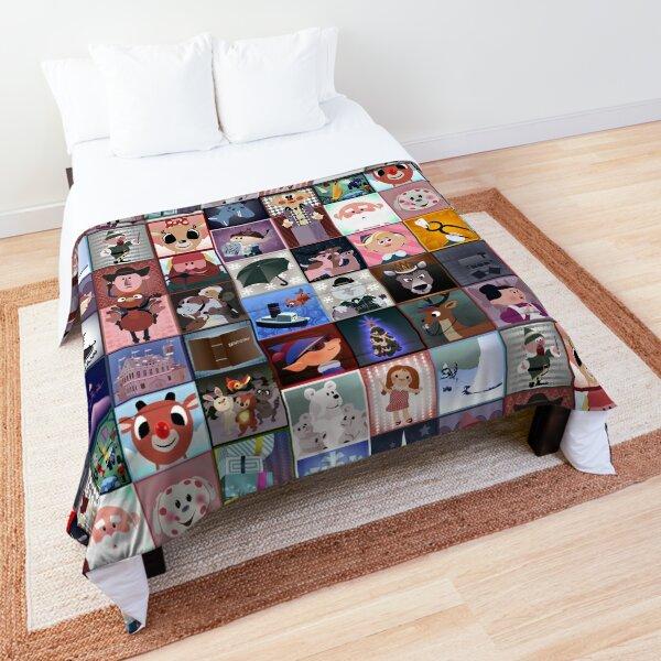 Rudolph Squares Comforter