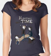 Hunting Time. Women's Fitted Scoop T-Shirt