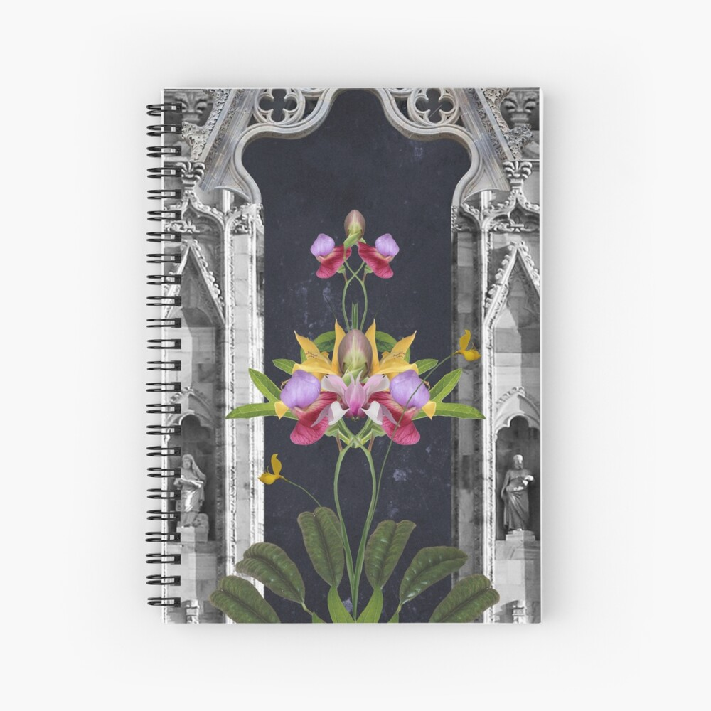 Faith - Religion, spirituality, flowers, architecture  Spiral Notebook