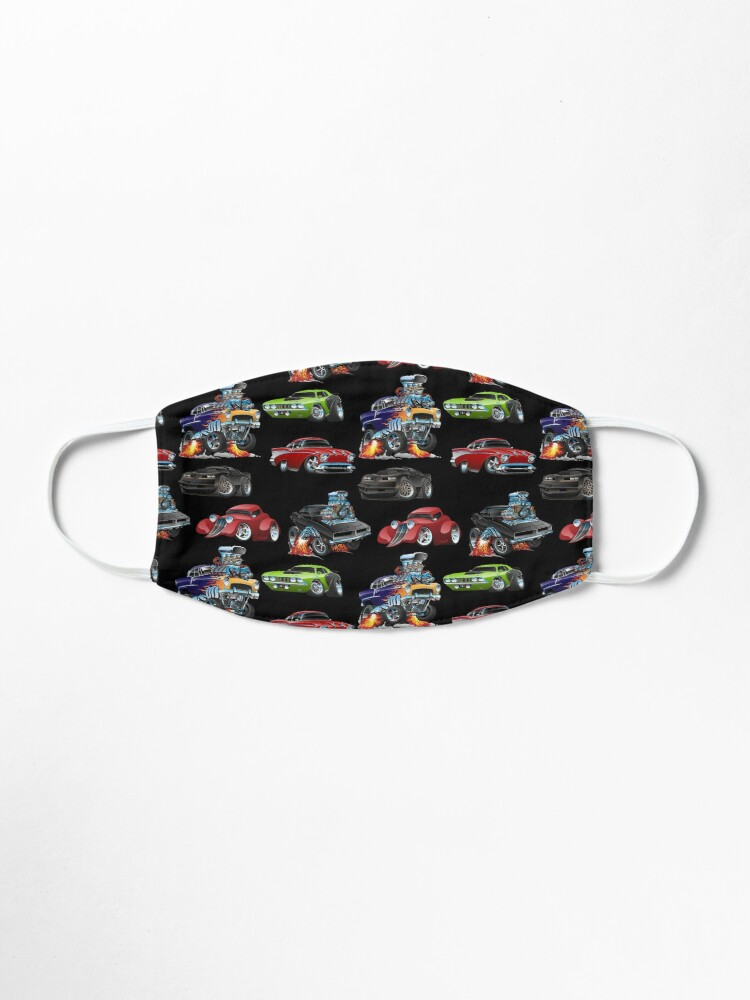 Alternate view of Hot Rods and Muscle Cars Seamless Repeating Pattern Mask