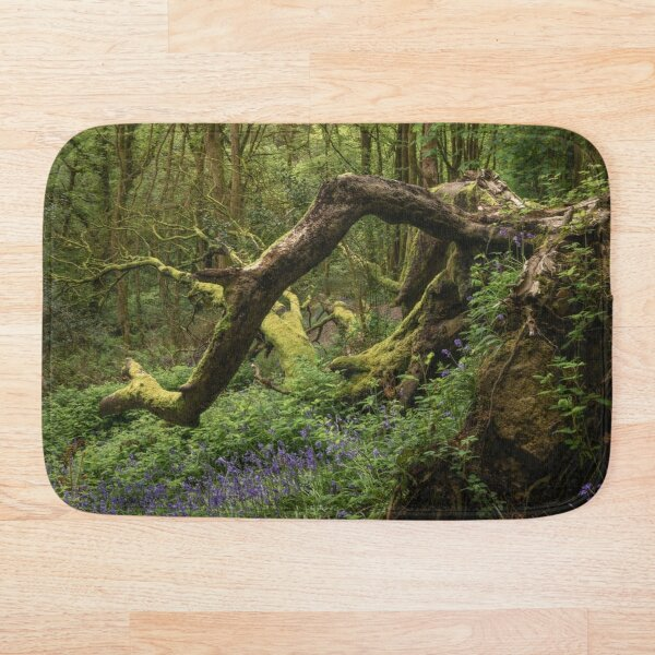 Green Plant Leaves Bath Rugs Nature Landscape Forest Non-Slip Door Mat MP
