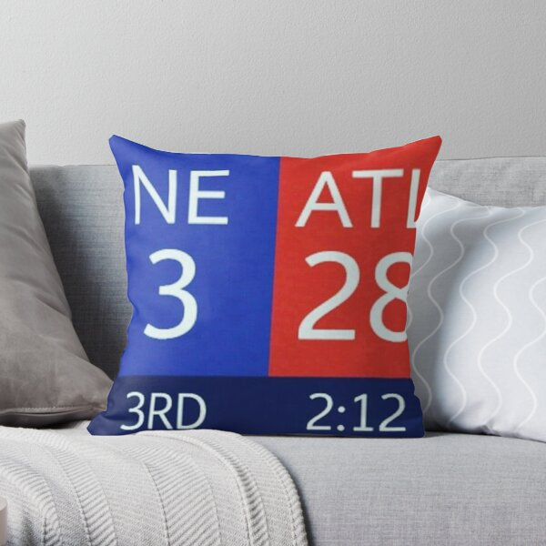 The Falcons 28-3 Lead Throw Pillow