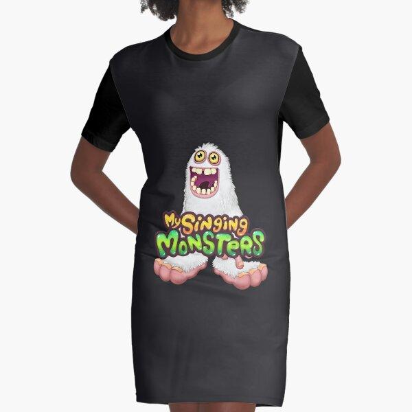 white mammot my singing monster Graphic T-Shirt Dress