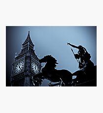 Big Ben and Boudica Photographic Print