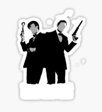 The Coolest Heroes Wear Bow Ties Sticker