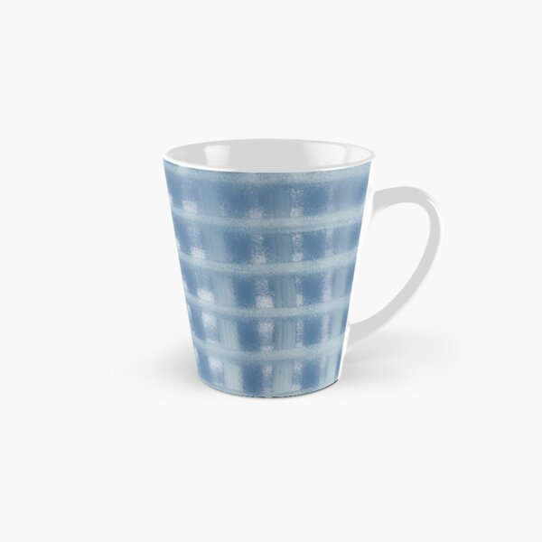 Blue Plaid Tall Mug