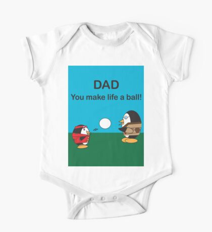 Waddles the Penguin Dad Makes Life A Ball Kids Clothes