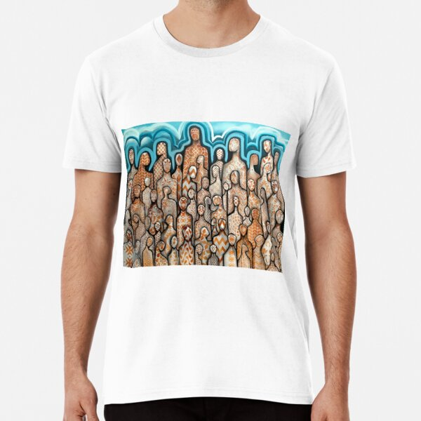 The People #3- Textures- oils HA! 2019-alleyvision Premium T-Shirt