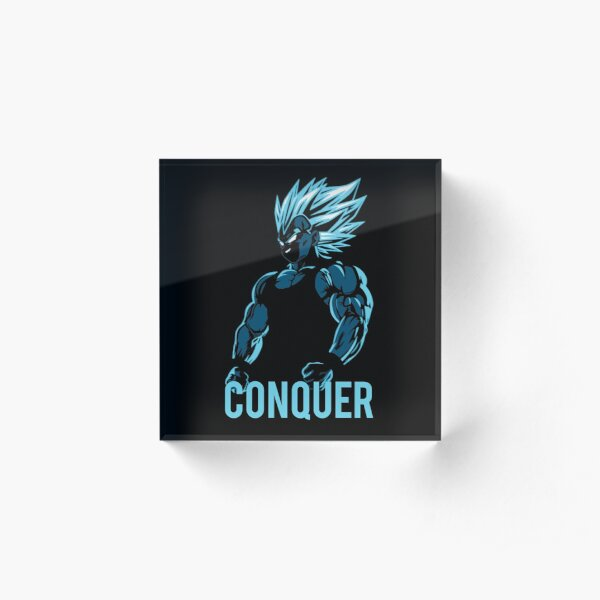 CONQUER - Vegeta Gym Workout Motivational  Acrylic Block