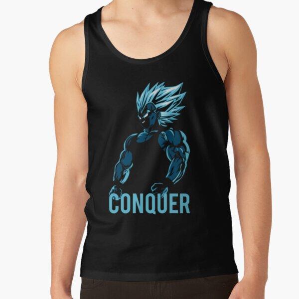 CONQUER - Vegeta Gym Workout Motivational  Tank Top