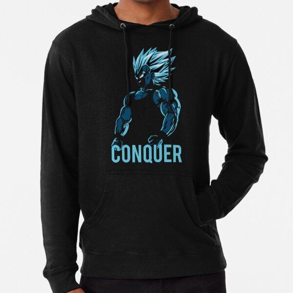 CONQUER - Vegeta Gym Workout Motivational Sudadera ligera con capucha