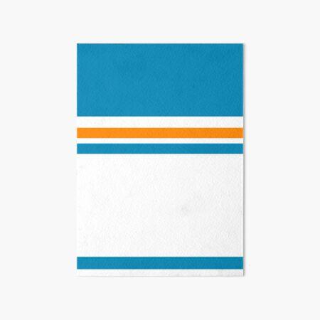 Blue with Orange Stripes Art Board Print