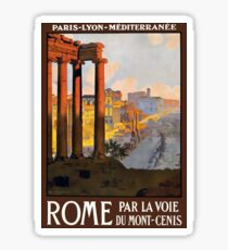 Rome Vintage Travel Advertisement Sticker
