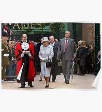 The Mayor of Bromley escorting The Queen Poster