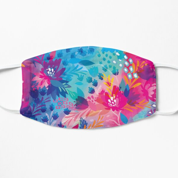 bloom daily planners floral jungle Flat Mask