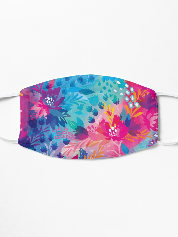 Alternate view of bloom daily planners floral jungle Mask