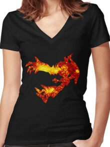 Yveltal used oblivion wing Women's Fitted V-Neck T-Shirt