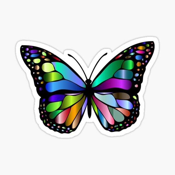 Prismatic Butterfly Sticker