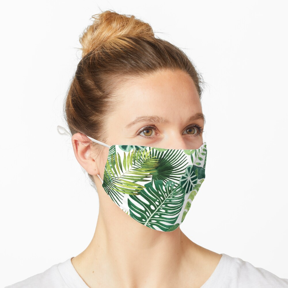 bloom daily planners tropical palm leaves Mask