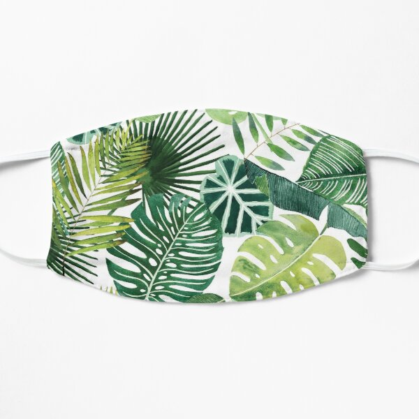 bloom daily planners tropical palm leaves Flat Mask