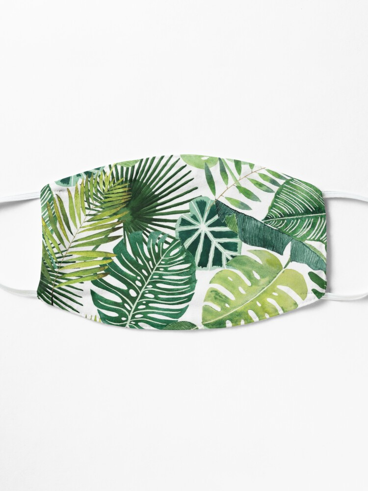 Alternate view of bloom daily planners tropical palm leaves Mask