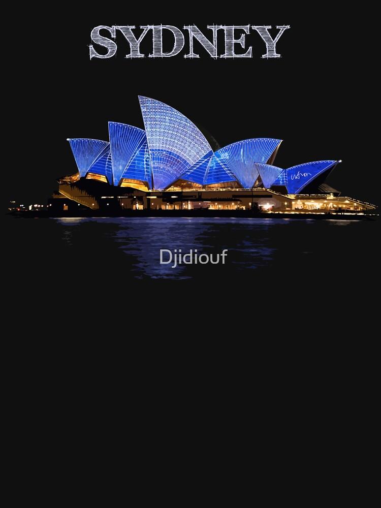 Sydney Opera House - White ink by Djidiouf