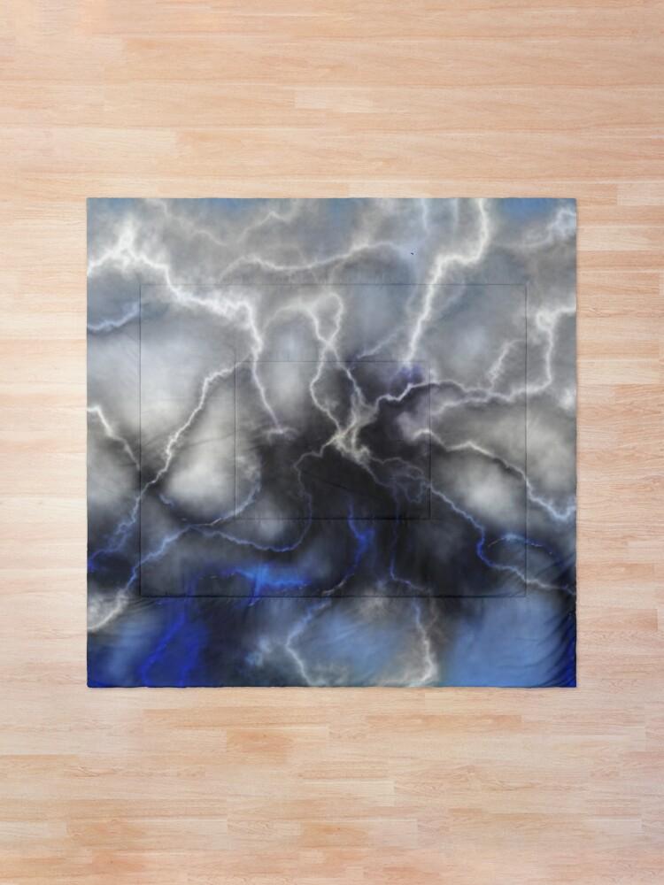 Alternate view of Lightning ride (blue) Comforter