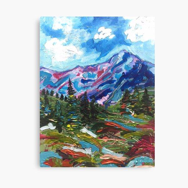 Canvas or Metal Art Print Wall Art Fish art acrylic cloud mountain Painting peaceful hope artwork alaskan art