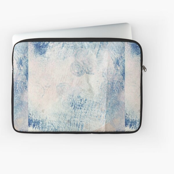 Aquamarine Crystal Acrylic & Ink Laptop Sleeve