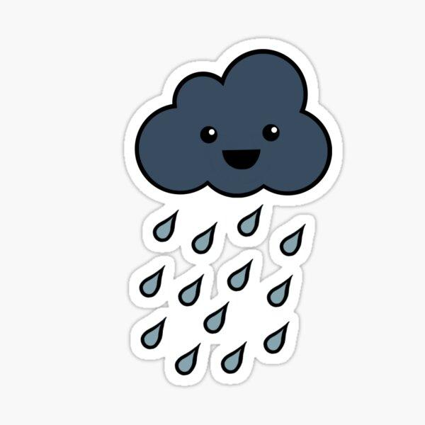 Happy Rain Cloud 3 Sticker