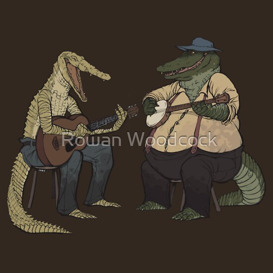 TShirtGifter presents: Dueling Crocodylidae | Unisex T-Shirt