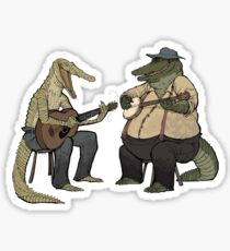 Dueling Crocodylidae Sticker