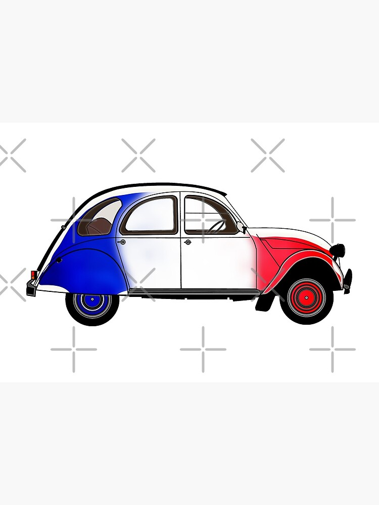 «2CV avec les couleurs du drapeau français» par Buckwhite