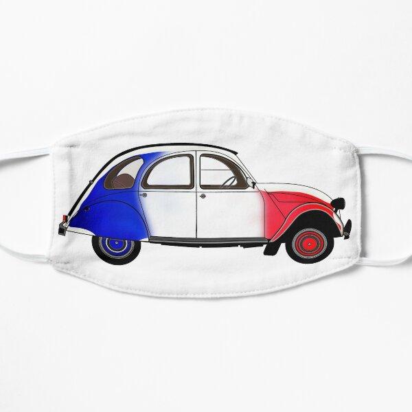 2CV avec les couleurs du drapeau français Masque sans plis
