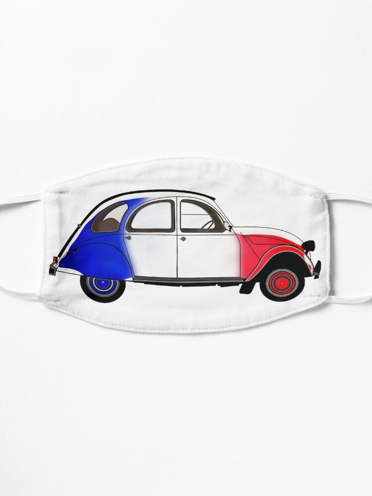 Masque ''2CV avec les couleurs du drapeau français': autre vue