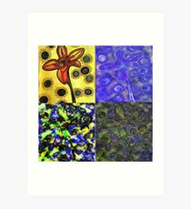 Fab Four Flower Art Print
