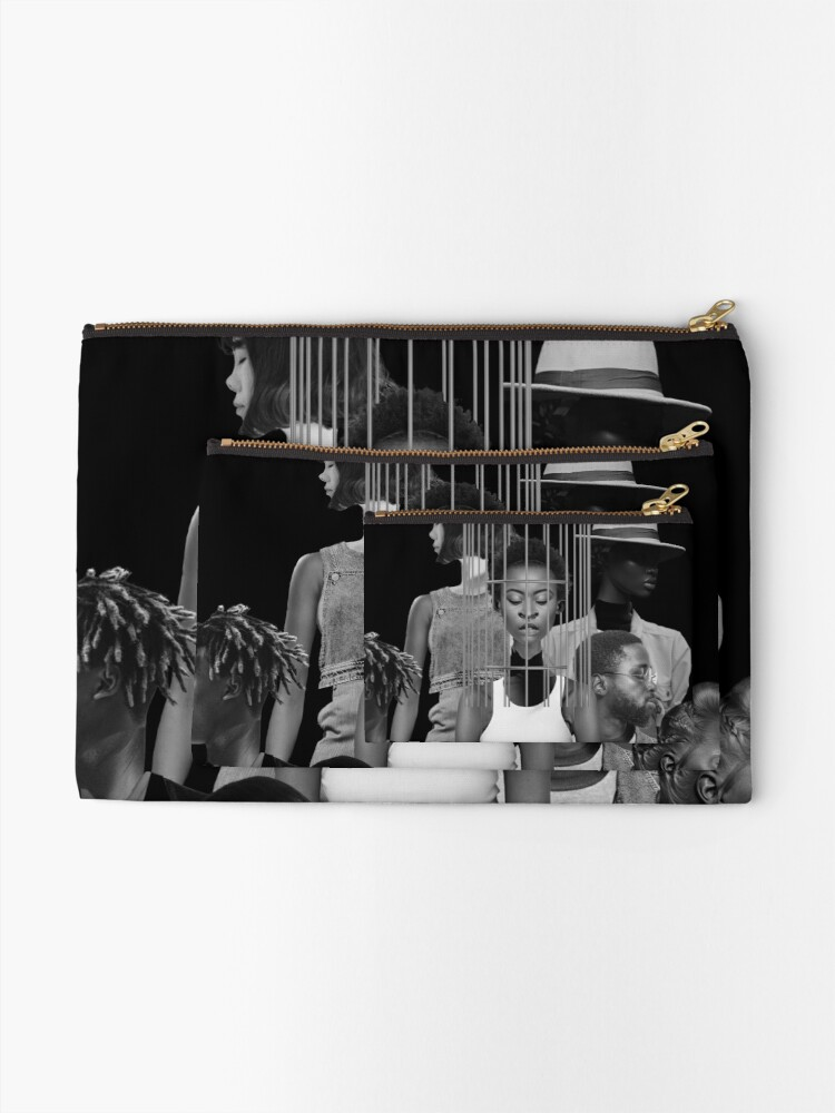 Alternate view of Invisible Loneliness - Lonely, black and white, people,  Zipper Pouch