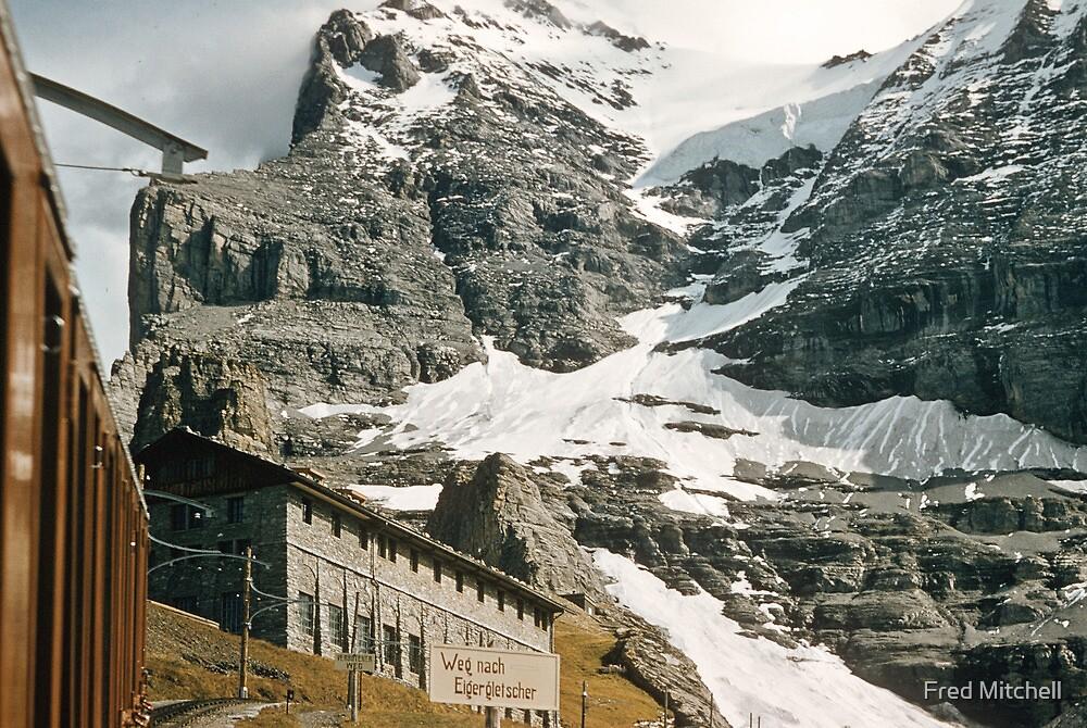 The entrance to Mount Eiger seen from train at Kleine Scheidegg 19570922 0024 by Fred Mitchell