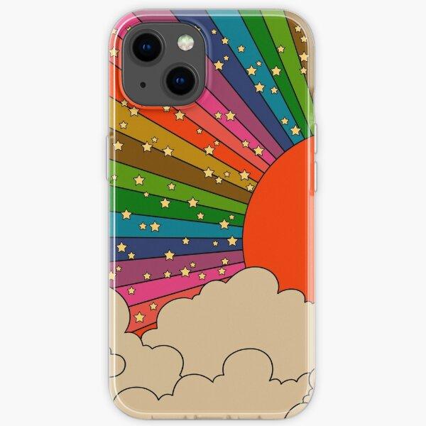 Rainbow 70s sun iPhone Soft Case