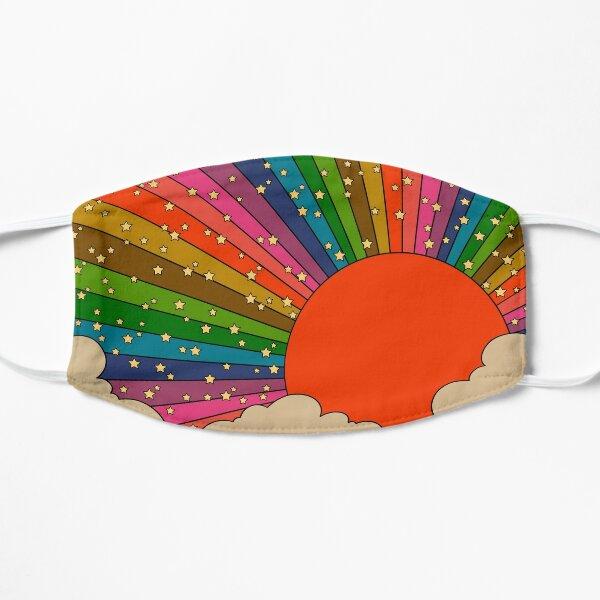 Rainbow 70s sun Mask