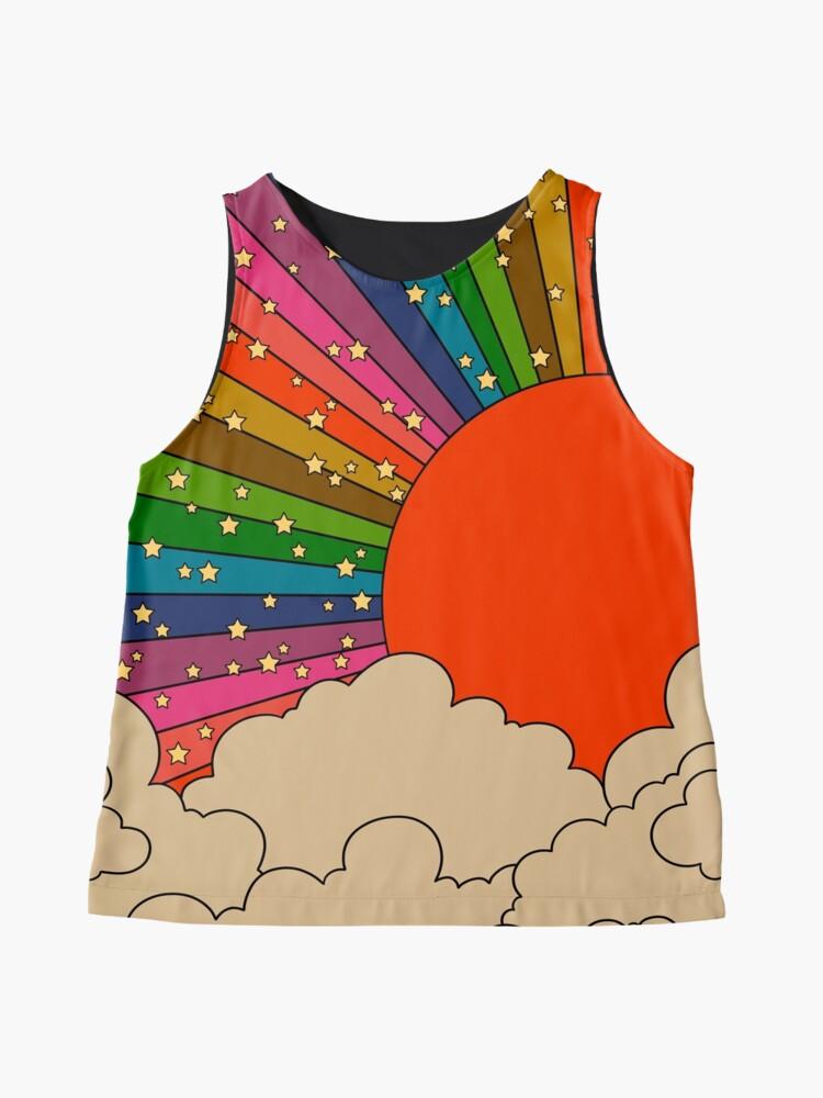 Alternate view of Rainbow 70s sun Sleeveless Top