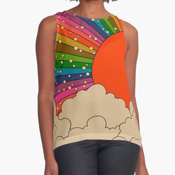 Rainbow 70s sun Sleeveless Top