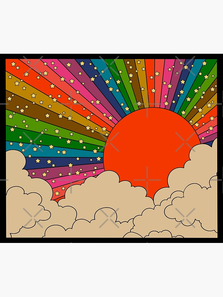 Rainbow 70s sun by MissPennyLane