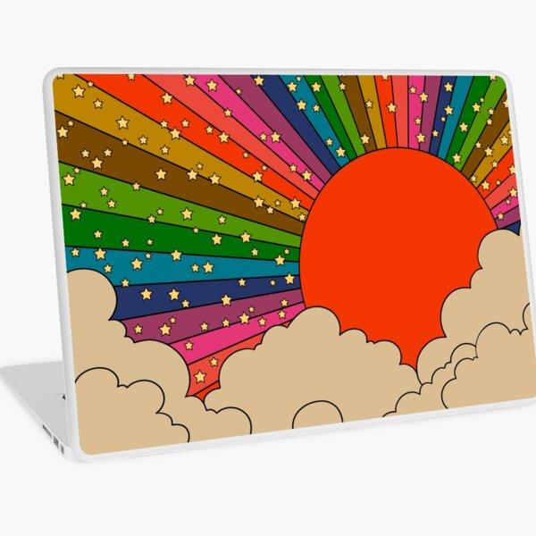 Rainbow 70s sun Laptop Skin