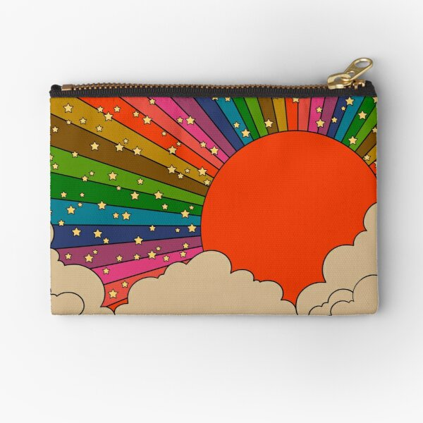 Sol de los años 70 del arco iris Bolsos de mano